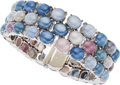 Estate Jewelry:Bracelets, Star Ruby, Star Sapphire, White Gold Bracelet, Bvlgari. ...