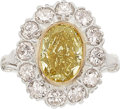 Estate Jewelry:Rings, Fancy Deep Brownish Orangy Yellow Diamond, Diamond, White GoldRing. ...
