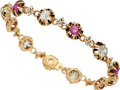 Estate Jewelry:Bracelets, Diamond, Ruby, Enamel, Gold Bracelet. ...
