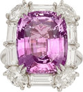 Estate Jewelry:Rings, Pink Sapphire, Diamond, Platinum Ring, Tiffany & Co.. ...