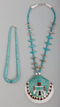 American Indian Art:Jewelry and Silverwork, Two Santo Domingo Necklaces. c. 1970... (Total: 2 Items)
