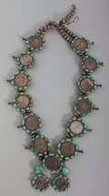American Indian Art:Jewelry and Silverwork, A Navajo Parade Squash Blossom Necklace. c. 1960...