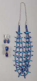 American Indian Art:Jewelry and Silverwork, Three Navajo Jewelry Items . c. 2000... (Total: 4 Items)