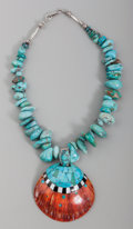 American Indian Art:Jewelry and Silverwork, A Zuni Necklace . Roger Tsabetsaye. c. 1990...