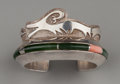 American Indian Art:Jewelry and Silverwork, A Navajo Cuff Bracelet . Whirling Wind. c. 1990...