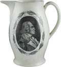 Political:3D & Other Display (pre-1896), George Washington: Perhaps the Nicest Liverpool Mourning Pitcher wehave Encountered....