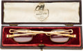 Political:Presidential Relics, Zachary Taylor: Personally-owned Eyeglasses and Case....