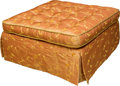 Furniture , A Large Button-Upholstered Square Ottoman, 20th century. 17 h x 35 w x 35 d inches (43.2 x 88.9 x 88.9 cm). ...