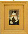 Asian:Chinese, A Chinese Eglomisé Painting: Child Eating a Sweet Potato,late 19th century. 12 x 7-1/2 inches (30.5 x 19.1 cm). ...