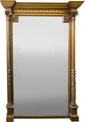 Furniture , A Large Neoclassical Carved Oak Pier Mirror, 19th century. 73-1/4 h x 51-1/4 w x 5 d inches (186.1 x 130.2 x 12.7 cm). ...