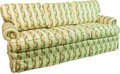 Furniture , An Upholstered Three-Seat Sofa, 20th century. 36 h x 80 w x 31 d inches (91.4 x 203.2 x 78.7 cm). ...