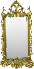 Decorative Arts, Continental, An Italian Rococo-Style Carved Giltwood Pier Mirror, mid-20thcentury. 80 h x 41 w x 4 d inches (203.2 x 104.1 x 10.2 cm). ...