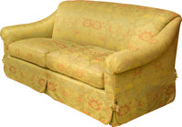 A Fine Stark-Old World Weavers Upholstered Sofa, early 21st century 35 h x 84 w x 37 d inches (88.9 x 198.1 x 94.0