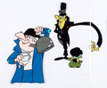 Animation Art:Production Cel, Mr. Magoo's Christmas Carol The Despicables Production CelSetup (UPA, 1962)....