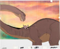 Animation Art:Production Cel, The Land Before Time Little Foot and Mother Production Cel(Sullivan/Bluth, 1988)....