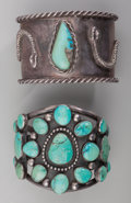 American Indian Art:Jewelry and Silverwork, Two Large Navajo Cuff Bracelets. ... (Total: 2 Items)