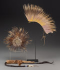American Indian Art:Pipes, Tools, and Weapons, Three Plains Hair Ornaments... (Total: 3 Items)