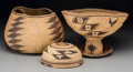 American Indian Art:Baskets, Three Northern California Twined Items... (Total: 3 Items)