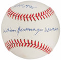 Baseball Collectibles:Balls, Billy Herman Single Signed, Inscribed Baseball....
