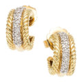 Estate Jewelry:Earrings, Diamond, Gold Earrings, David Yurman. . ... (Total: 2 Items)