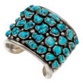 Estate Jewelry:Bracelets, Turquoise, Sterling Silver Bracelet, Cipriano Romero. . ...