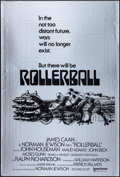 """Movie Posters:Science Fiction, Rollerball (United Artists, 1975). Mylar One Sheet (27"""" X 41"""")Advance. Science Fiction.. ..."""