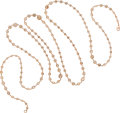 Estate Jewelry:Necklaces, Diamond, Pink Gold Necklace. ...