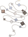 Estate Jewelry:Necklaces, Mother-of-Pearl, Agate, White Gold Necklace, Van Cleef &Arpels. ...