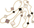 Estate Jewelry:Necklaces, Mother-of-Pearl, Black Onyx, Gold Necklace, Van Cleef & Arpels....