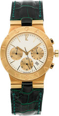 Estate Jewelry:Watches, Bvlgari Gentleman's Gold Diagono Chronograph Watch. ...