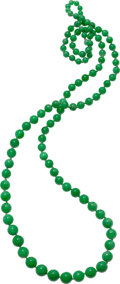 Estate Jewelry:Necklaces, Jadeite Jade Necklace. ...