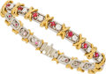 Estate Jewelry:Bracelets, Ruby, Diamond, Platinum, Gold Bracelet, Schlumberger for Tiffany& Co.. ...