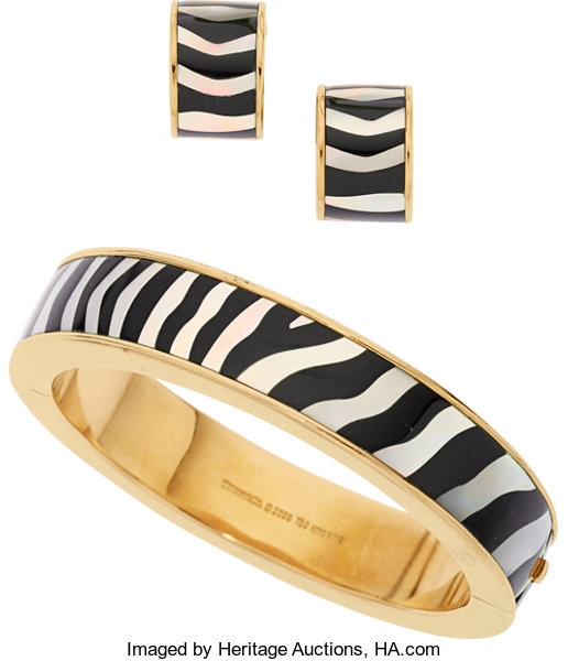 7be7079d19f13 Black Onyx, Mother-of-Pearl, Gold Jewelry Suite, Tiffany & Co ...