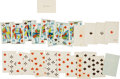 Miscellaneous:Ephemera, Alaska in 1867: Partial Deck of Playing Cards....