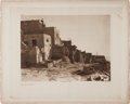 "American Indian Art:Photographs, Edward S. Curtis, Photographer: ""East Side of Walpi"" PortfolioPhotogravure from The North American Indian, Volume..."
