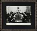 "Autographs:Statesmen, John F. Kennedy & His Original Cabinet: A Rare Large 19.75"" x16"" Signed Photo...."