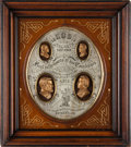 Political:3D & Other Display (pre-1896), Grant & Wilson: A Superb, Ornate Shadow Box Display for These1872 Running Mates....