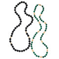 Estate Jewelry:Necklaces, Black Onyx, Malachite, Gold Necklaces. . ...
