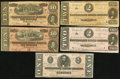Confederate Notes:Group Lots, Group of 1864 Confederate Treasury Notes - Five Examples.. ...(Total: 5 notes)