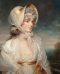 Fine Art - Painting, European:Antique  (Pre 1900), After John Hoppner (British, 1758-1810). Portrait of theHonorable Lucy Elizabeth Byng. Oil on canvas. 30-1/4 x 25-1/2i...