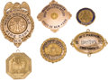 Political:Ribbons & Badges, Politicians and Officials: Gold Badges and More. ... (Total: 6 Items)