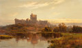 Paintings, Alfred de Bréanski (British, 1852-1928). Windsor Castle at sunset, 1897. Oil on canvas. 24 x 40 inches (61.0 x 101.6 cm)...
