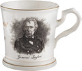 Political:3D & Other Display (pre-1896), Zachary Taylor: A Fine Ceramic Mug Bearing His Military Portrait....