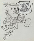 Animation Art:Production Drawing, Bob Hope Animation Drawing (Hanna-Barbera, c. 1970s)....
