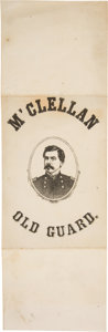 Political:Small Paper (pre-1896), George McClellan: An Imposing Large Paper Ribbon Badge....