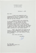 Autographs:U.S. Presidents, Richard Nixon: Important 1966 Letter Alleging Voter Fraud in the 1960 Election....