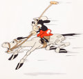 Animation Art:Production Cel, Mickey's Polo Team Mickey Mouse Production Cel (Walt Disney,1936)....