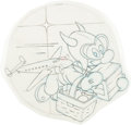 Animation Art:Concept Art, Hank Porter WWII Disney Gremlin Insignia Air Transport Command (Walt Disney, c. 1940s)....