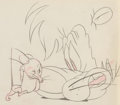 Animation Art:Production Drawing, Slap Happy Lion Animation Drawing (MGM, 1947)....