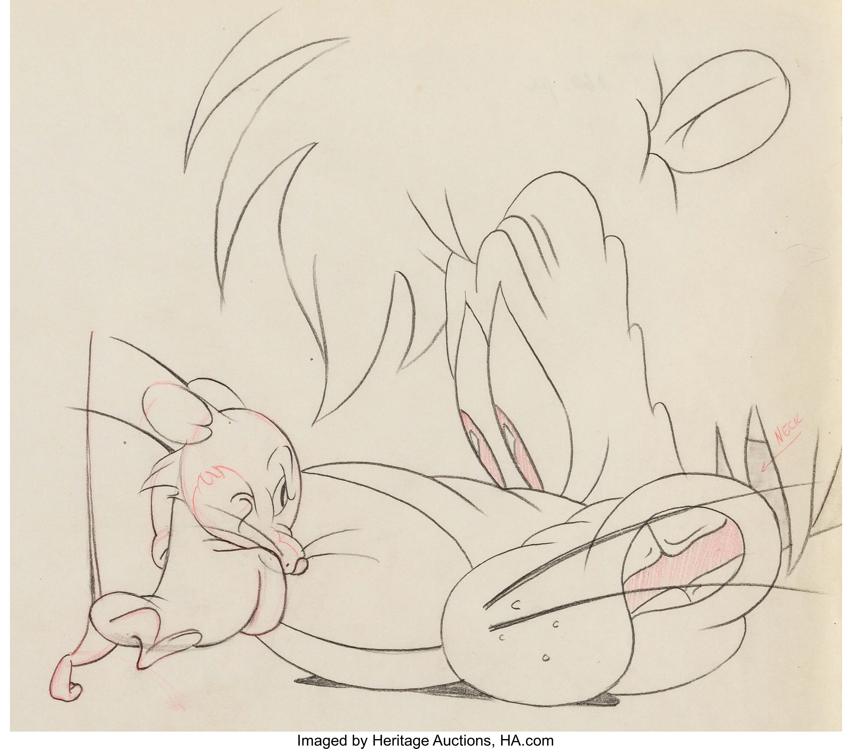 Slap Happy Lion Animation Drawing Mgm 1947 Animation Art Lot 11227 Heritage Auctions